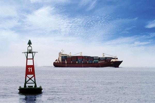 Thông báo hàng hải số 43/ TBHH-CTBĐATHH MN - Độ sâu tuyến luồng phía Nam luồng hàng hải Định An - Cần Thơ