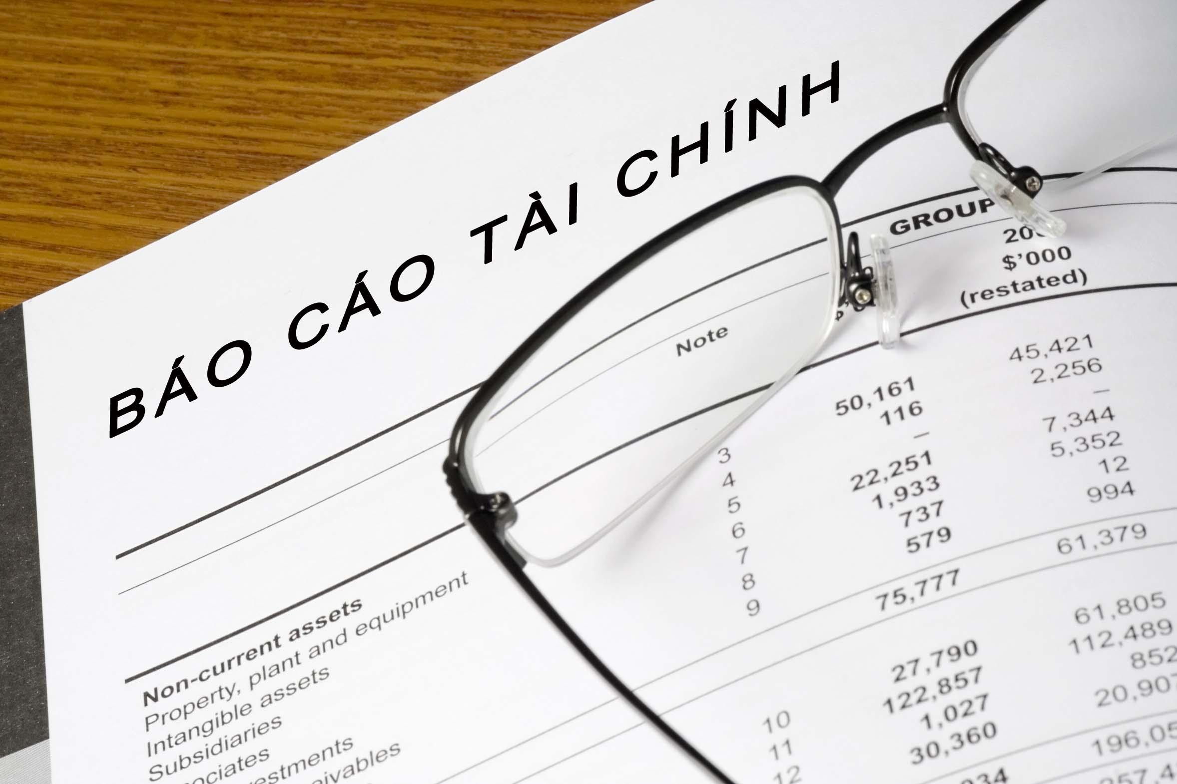Báo cáo tài chính quý IV năm 2018